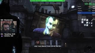 Batman: Arkham City NG+ Any% Speedrun PB 16:11 RTA (12/6/19)