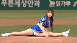 各国美少女开球合辑 教练我想打棒球!