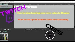 How To Stop Hearing Voice Playback In Reaper And VB Audio Cable Set Up For Streaming