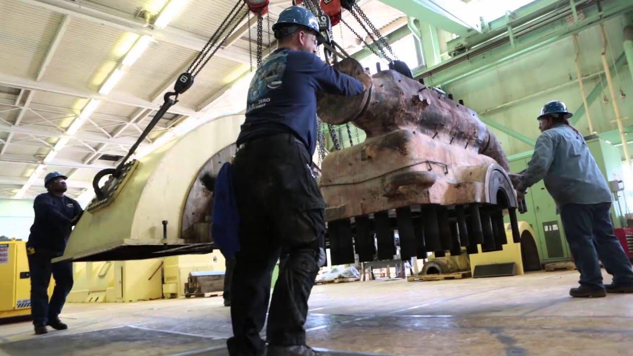 Steam Turbine Repair Time Lapse Video