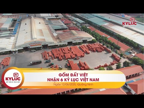 Kyluc.tv| Gốm Đất Việt thiết lập cùng lúc 06 Kỷ lục Việt Nam 12-06-2020