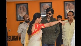 Pawan Kalyan At Film Chamber Sri Reddy Comments On Pawan Mother Tollywood Controversy   YOYO TV