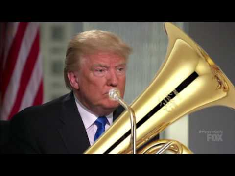 Donald Trump plays the tuba - extended interview