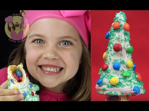 CHRISTMAS TREE PINATAS!  Make these yummy xmas trees with a treat inside – how to baking