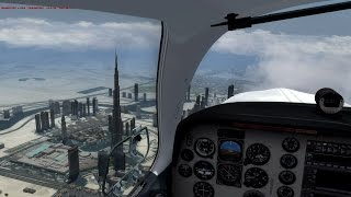 Lockheed Martin Prepar3d: Fly Over Burj Khalifa - Carenado Bonanza