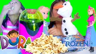 Dora the Explorer Popcorn Maker Disney Frozen Spinning Olaf Toddler Elsa Musical Magic Anna