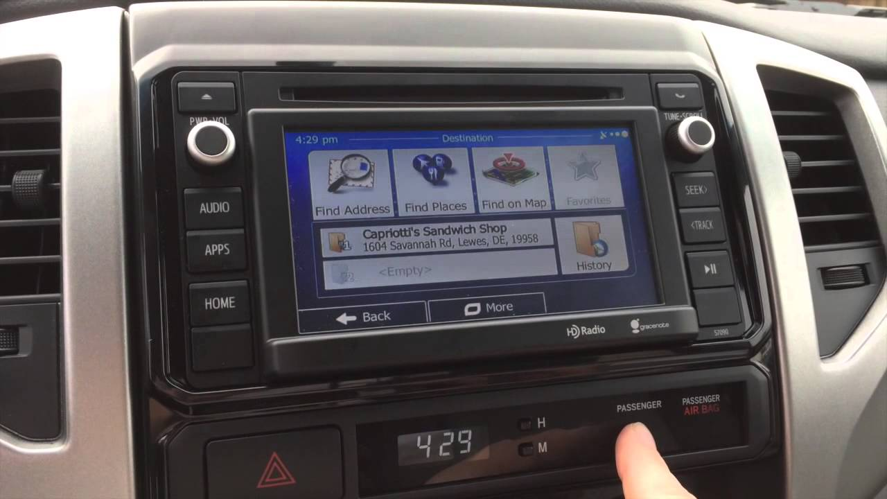 . adding igo navigation to a  toyota tacoma  youtube