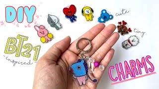 DIY BT21 Plastic Charms!