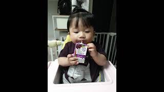 |사과머리는 포인트|쥬스마시는아기|아기쥬스|아기간식|아…