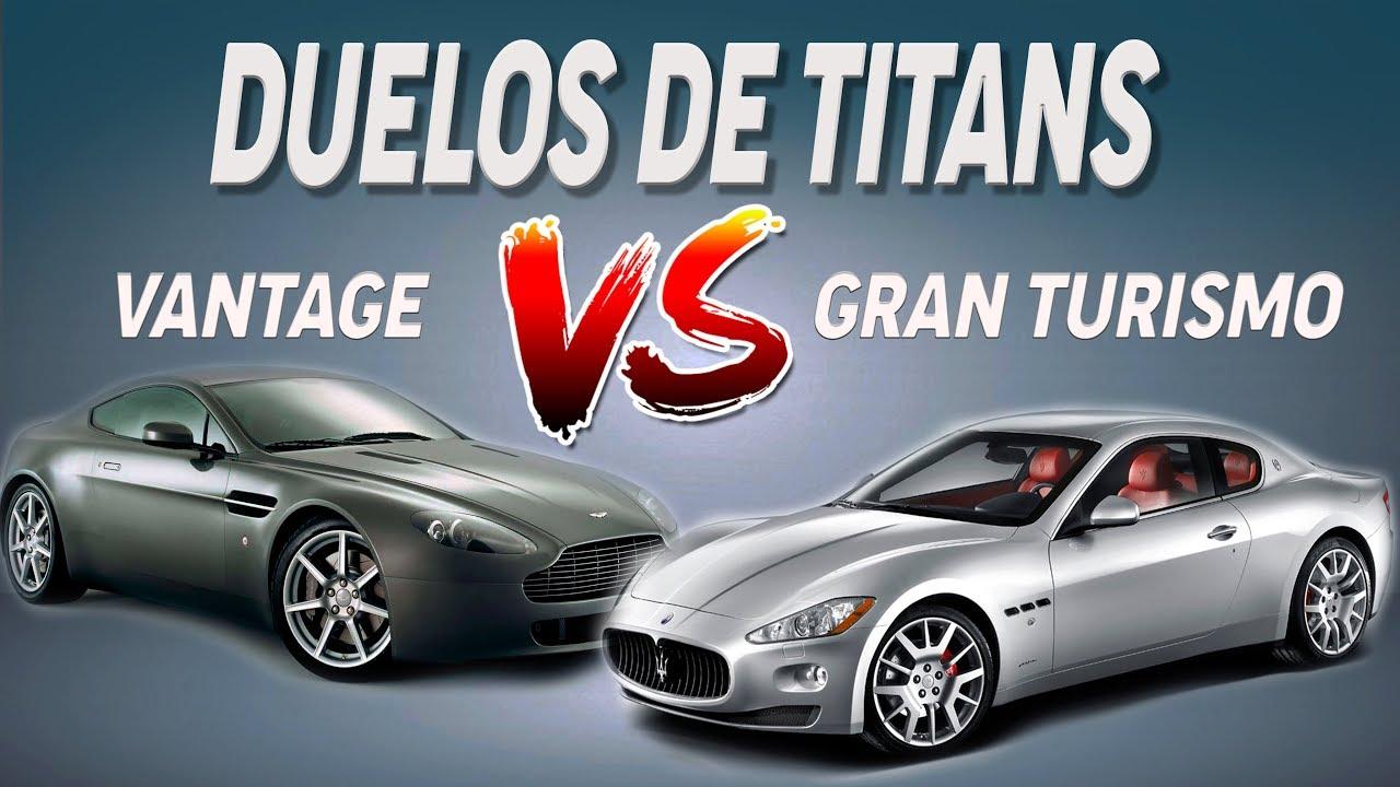 Duelos Aston Martin Vantage Vs Maserati Granturismo Apc Youtube