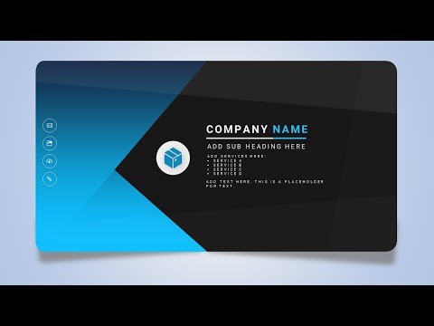How To Design a Creative Business or Name Card in Microsoft Office PowerPoint PPT
