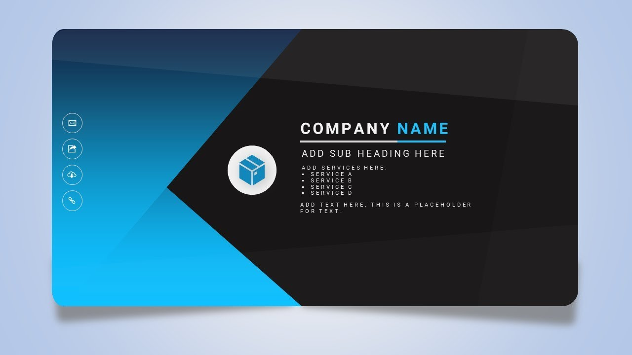 how to design a creative business or name card in