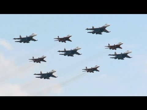 Russian Knights & Swifts Russian air force 100th anniversary air show Aug.12