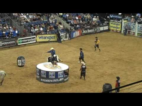Junior Seau Gets Run Over by a Bull in the PBR