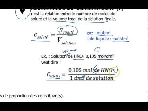 10-Solutions : Concentration et masse volumique