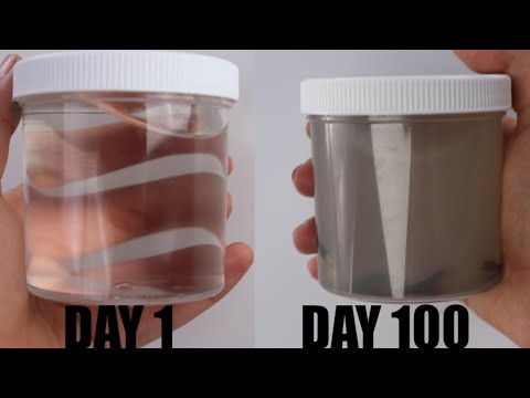 100 DAYS OF CLEAR SLIME CHALLENGE! WHAT ACTUALLY HAPPENS TO CLEAR SLIME IN 100 DAYS!