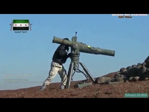 """Moderate Rebel"" FSA using BGM-71 TOW Missile against SAA Compilation February 2016"