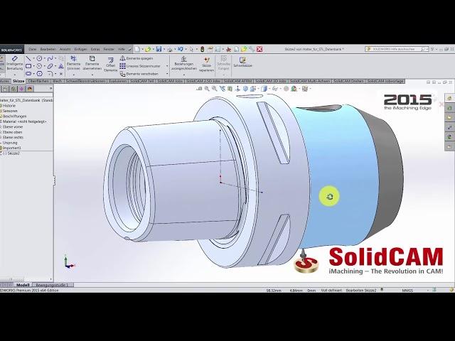 CAD Daten für die STL Werkzeughalterbibliothek anpassen