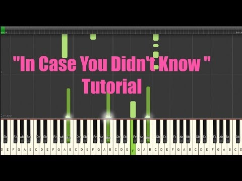 Brett Young- In Case You Didn't Know (Piano Tutorial) w/Sheet Music