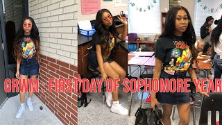 GRWM: FIRST DAY OF SCHOOL + VLOG| *sophomore edition*