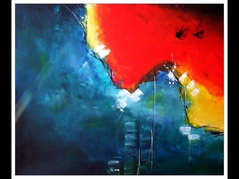 Abstrakte Malerei Demo 87 Abstrakte Landschaft Mit Pinsel