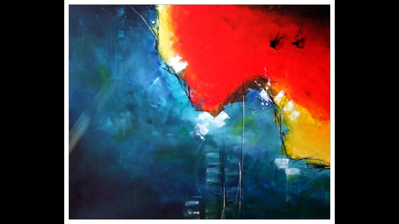 Abstrakt acryl tutorial painting abstract blending for Abstract watercolor painting tutorial