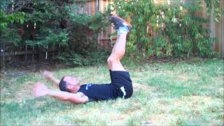 bear hug crunch--body weight exercise for Strength Stack 52