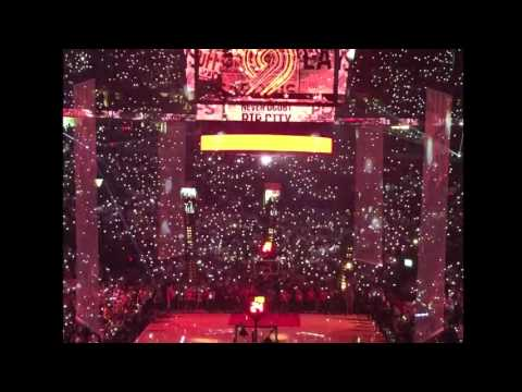 Player introductions from Blazers/Warriors Game 3 at the Moda Center