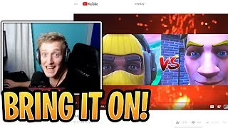 """Tfue Reacts to Ceeday's Accepting 1v1 Video """"Message to Tfue""""! - Fortnite Best and Funny Moments"""