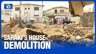 Kwara Government Demolishes Saraki's Family Property In Ilorin