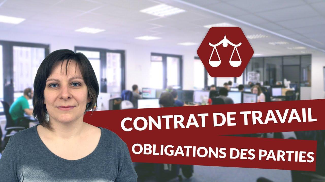Le contrat de travail : les obligations des parties   STMG Droit