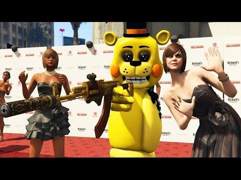 TOY ANIMATRONICS vs ULTIMATE MOVIE PREMIERE! (GTA 5 Mods FNAF Funny Moments)