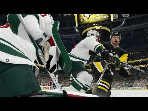 NHL 19 Gameplay Minnesota Wild vs Pittsburgh Penguins (NHL 19 Xbox One EA Access)