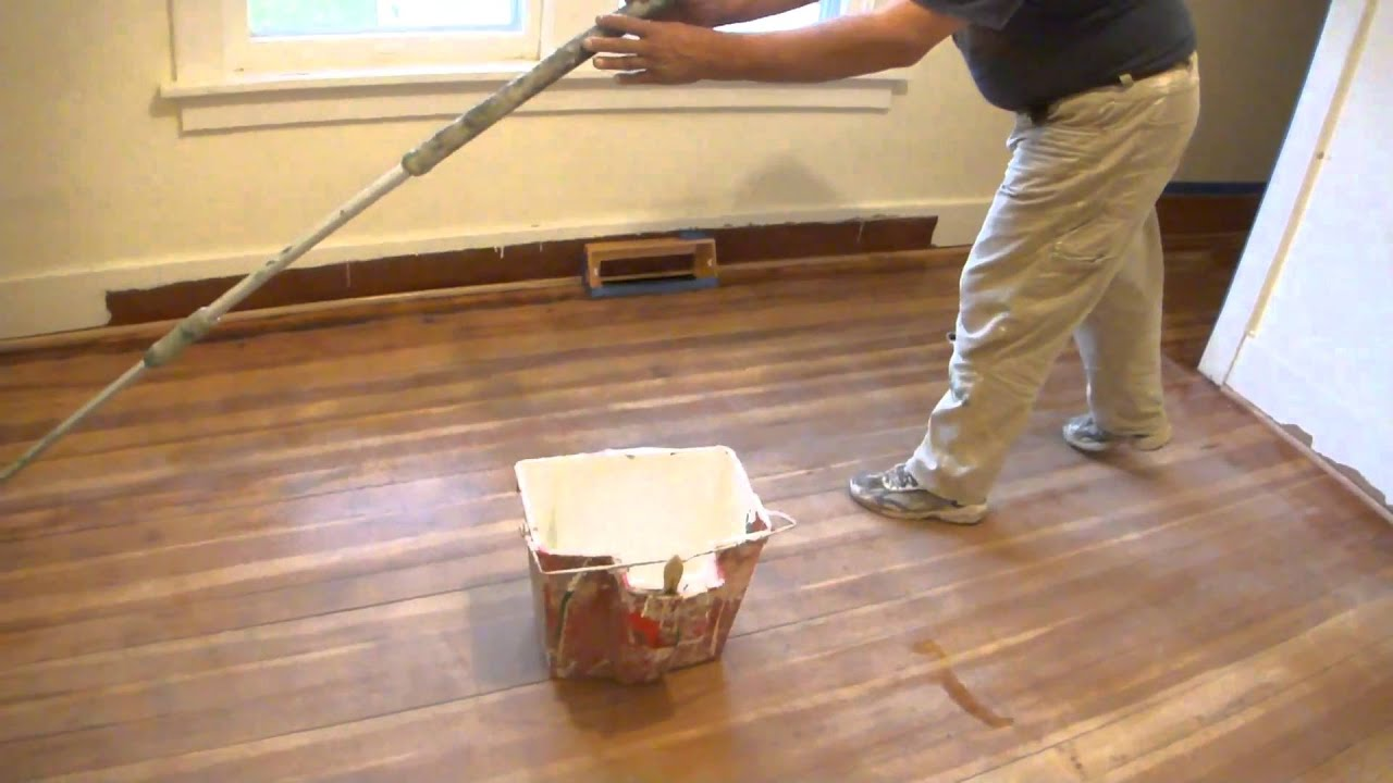 Refinishing A Hardwood Floor With Polycrylic Clear Semi Gloss