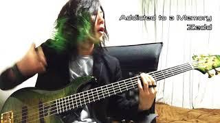 zedd   addicted to a memory slap bass cover