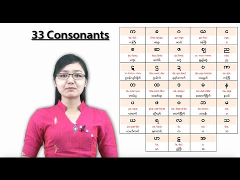 Learn Burmese language - The sound of consonants part 1