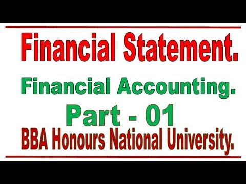 FINANCIAL STATEMENTS (BASIC ACCOUNTING) LECTURER-1 IN BANGLA