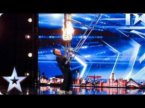 Kieran Beattie brings the danger to BGT | Auditions Week 2 | Britain's Got Talent 2017