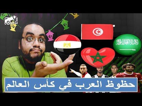 #المدفع : العرب في كأس العالم ,, حظوظ المغرب , مصر , السعودية و تونس