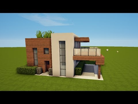 modernes minecraft haus bauen tutorial haus 57 youtube. Black Bedroom Furniture Sets. Home Design Ideas