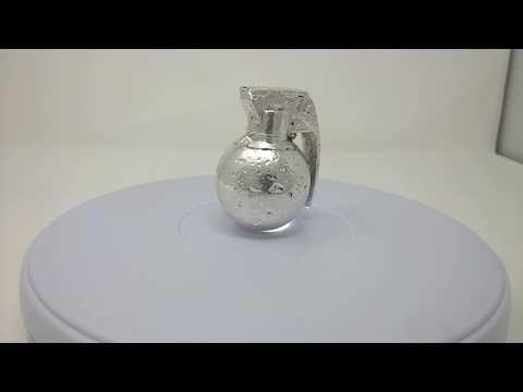 Silver.Life Full 3D Silver Bullion Grenade .999 Fine Silver Bullion