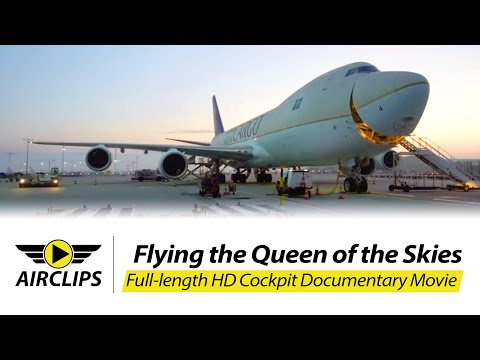 FANTASTIC Boeing 7478F ULTIMATE COCKPIT MOVIE: Saudia Cargo FrankfurtJeddah [AirClips]