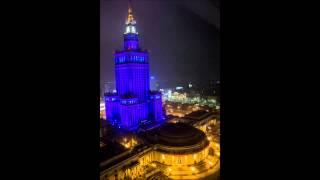 Warszawa - Pałac Kultury i Nauki Nocą / Warsaw - Palace of Culture and Science