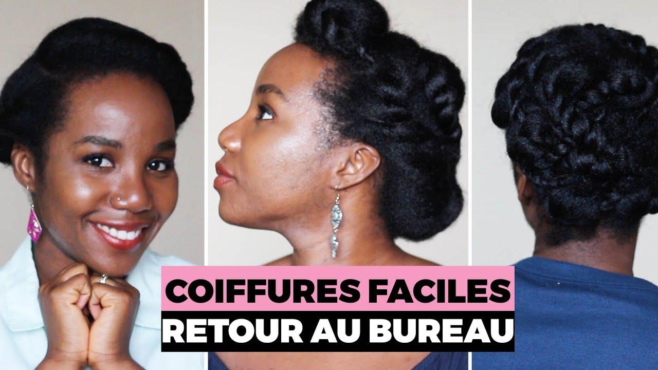 Cheveux Crepus 5 Coiffures Faciles Pour Le Bureau Youtube