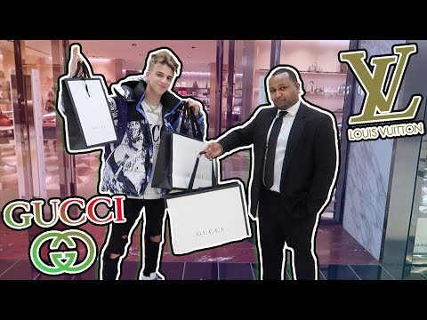 $6000 BIGGEST MALL IN AMERICA GUCCI AND LOUIS VUITTON SHOPPING SPREE!