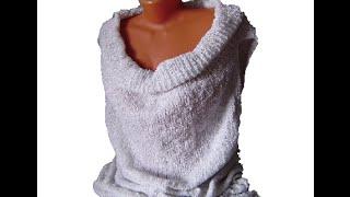 Туника, топ или платье спицами или крючком.