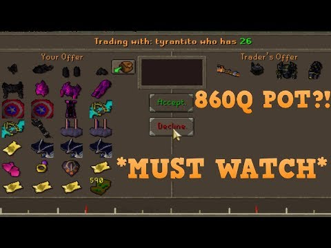 THE BIGGEST GAMBLE IN HISTORY on Dreamscape RSPS?!   860Q POT!
