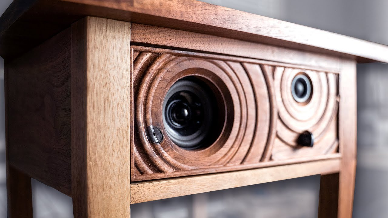 Building A Bluetooth Speaker Into A Side Table Youtube