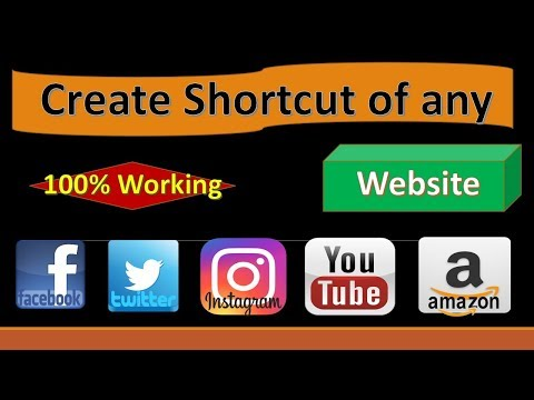 How To Create Shortcut For Any Website.