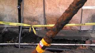 Running a new natural gas line
